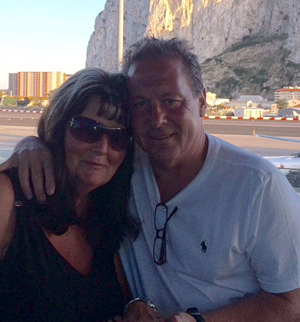 When Denise and I got engaged in Gibraltar