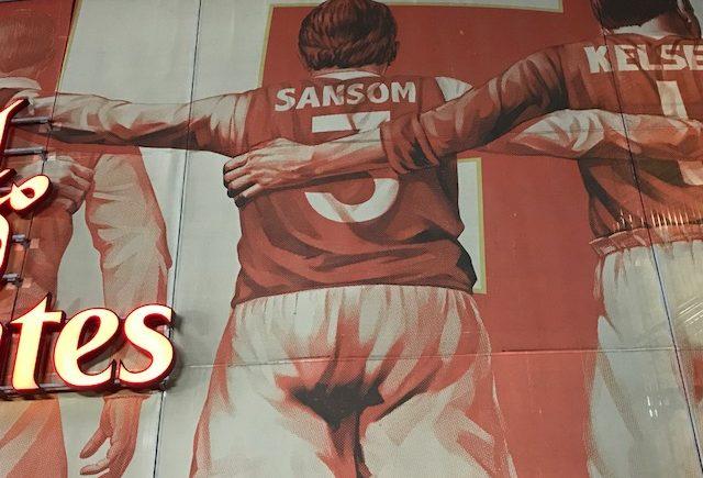 Kenny Sansom's back on the Emirates core artwork